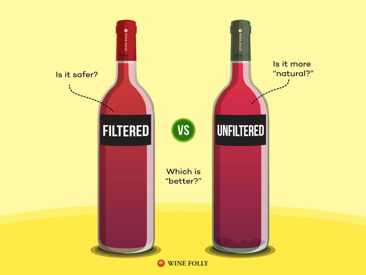 фильтрованное и не фильтрованное вино