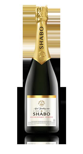 Выдержанное игристое вино Шабо классик Красное полусладкое